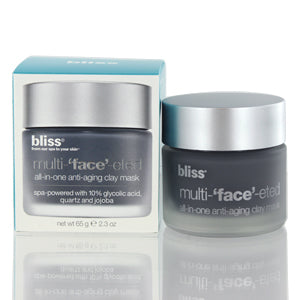 BLISS MULTI-'FACE'-ETED ALL-IN-ONE ANTI-AGING CLAY MASK 2.3 OZ OILY SKIN TYPES