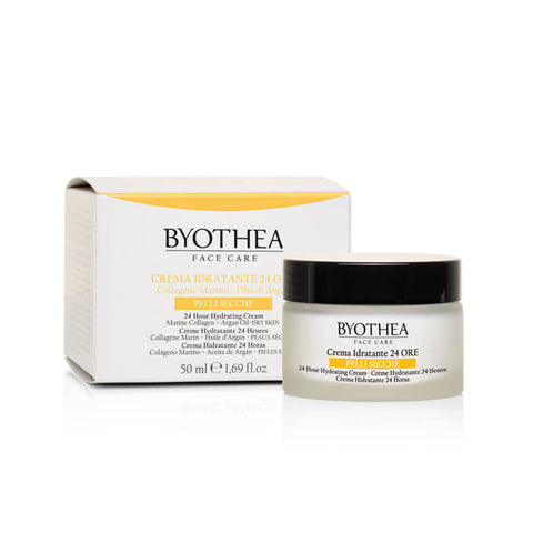 Byothea 24 Hour Hydrating Cream Dry Skin Marine Collagen And Argan Oil 50ml - Brands Now