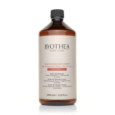 Byothea Body Oil Massage Sweet Almond Oil And Coconut Oil Almond 1Ltr - Brands Now