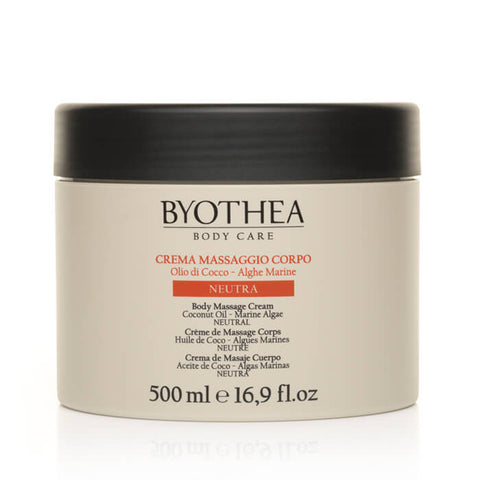 Byothea Body Massage Cream Coconut Oil And Marine Algae Neutral 500ml - Brands Now