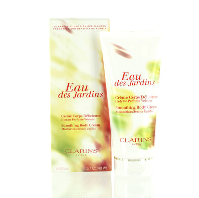 CLARINS EAU DES JARDINS SMOOTHING BODY CREAM 6.7 OZ (200 ML)