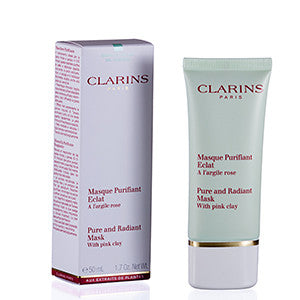CLARINS TRULY MATTE PURE & RADIANT MASK WITH PINK CLAY