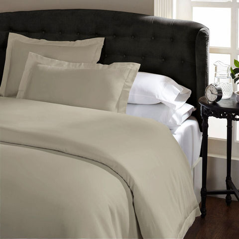 Royal Comfort 1500 Thread count Cotton Blend Quilt cover sets Queen Stone