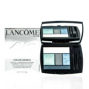 LANCOME COLOR DESIGN 5 SHADOW & LINER PALETTE(400)TEAL FURYA .141 OZ