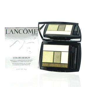 LANCOME COLOR DESIGN 5 SHADOW & LINER PALETTE 500 JADE FEVER .141 OZ EYE BRIGHTENING ALL-IN-ONE