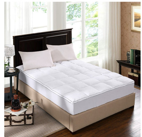 Royal Comfort - Bamboo Mattress topper in 5cm gusset sheet Queen - Brands Now