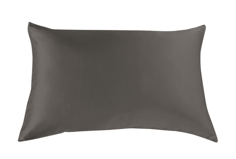 ROYAL COMFORT MULBERRY SILK PILLOW CASE TWIN PACK - SIZE:       51X76CM - CHARCOAL