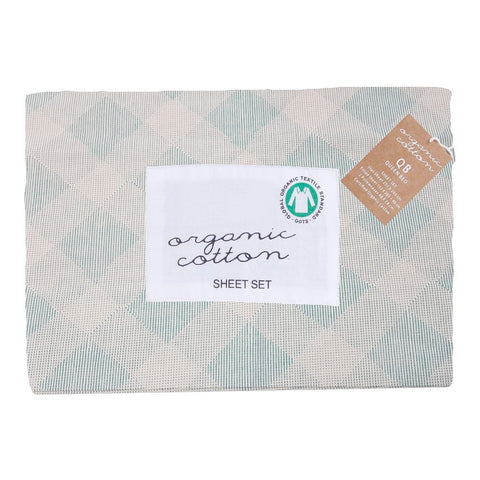 Style & Co 250 Thread count Certified Organic Printed Sheet set Single Bed Leona