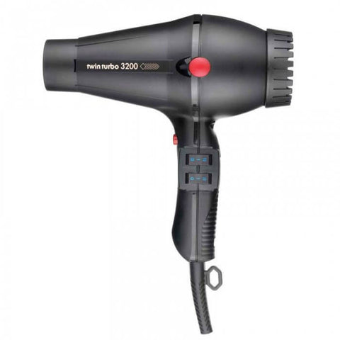 Twin Turbo 3200 Hair Dryer Compact Black - Brands Now