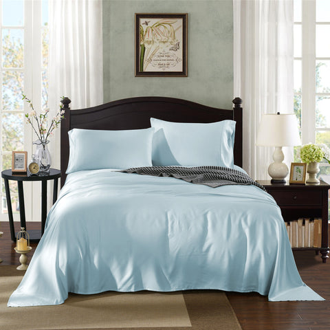 Royal Comfort Bamboo sheets -Double Chambray (Powder)