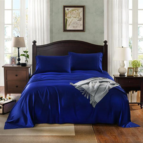 Royal Comfort No Sweat 1000TC 100%  Natural Bamboo sheets -Mega Queen Indigo