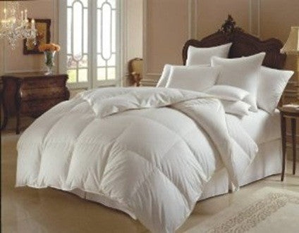 Royal Comfort Duck Feather And Down Quilt Size: Single 95% Feather 5% Down 500GSM White Cotton 233TC - Brands Now