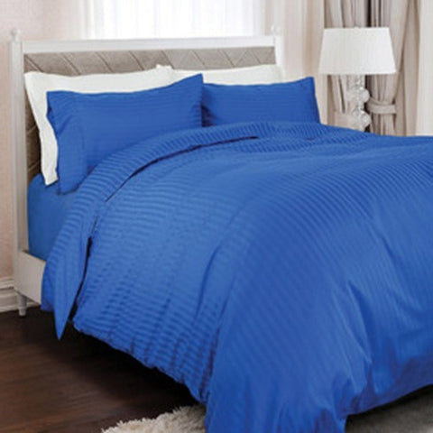 Royal Comfort 1200TC 100% Egyptian Cotton Quilt Set-Royal blue -Double - Brands Now