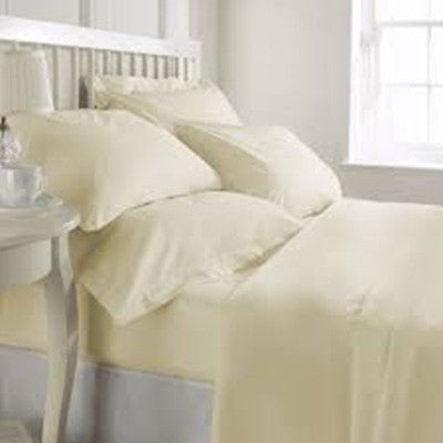 1000TC cotton rich sheet Set Ivory King - Brands Now