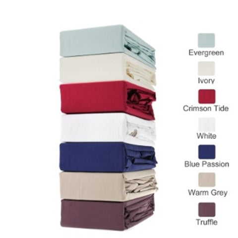 Royal Comfort Middleton collection - 1000TC 100% Egyptian Cotton sheet set - Warm Grey- Single - Brands Now