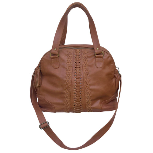 Vintage Leather Nappy Bag