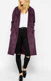 Trap Queen Winter Women Double Breasted Long Trench