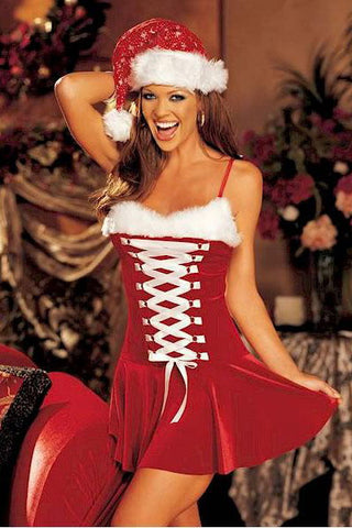 Christmas Eve Buckles Lingerie Costume