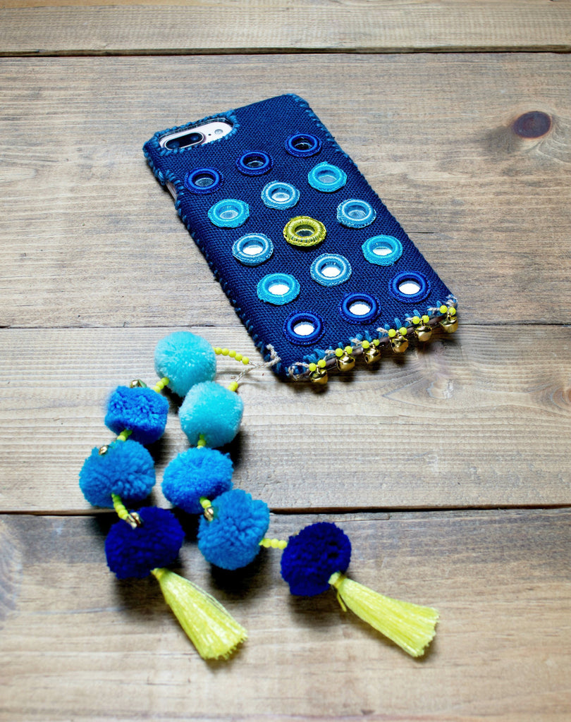 LAZULI - Hand Embroidered iPhone Cover