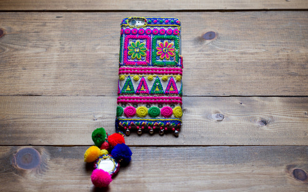 MOONSTONE - Embroidered iPhone Cover