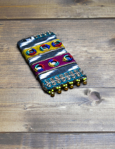 GRAPHITE - Hand Embroidered iPhone Cover