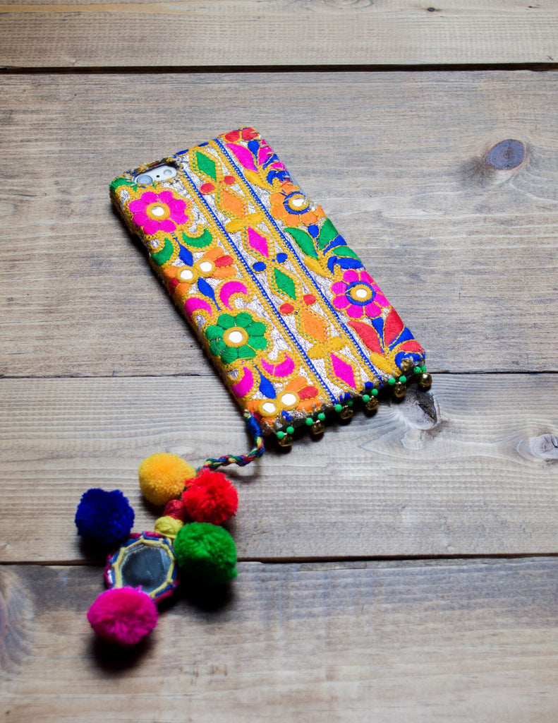 GOLD DUST - Embroidered iPhone Cover