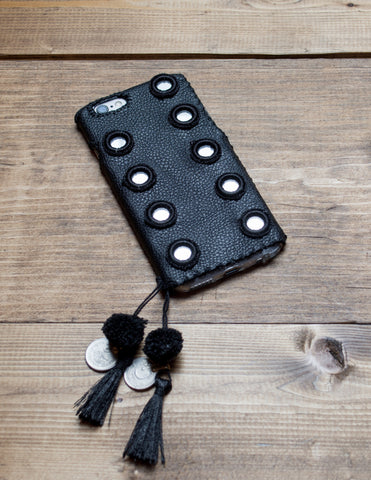 ONYX - Hand Embroidered iPhone Cover