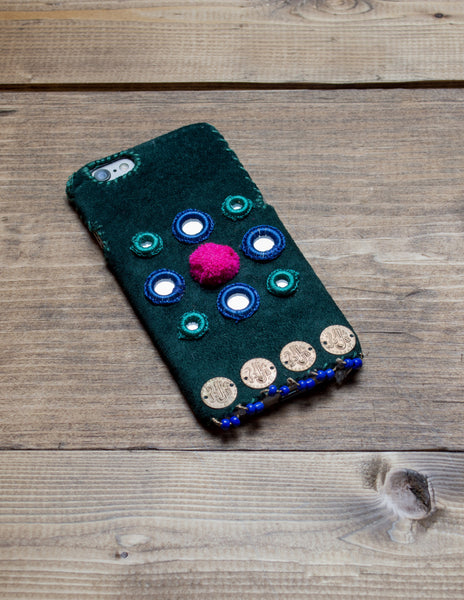 CLEO - Hand Embroidered iPhone Cover
