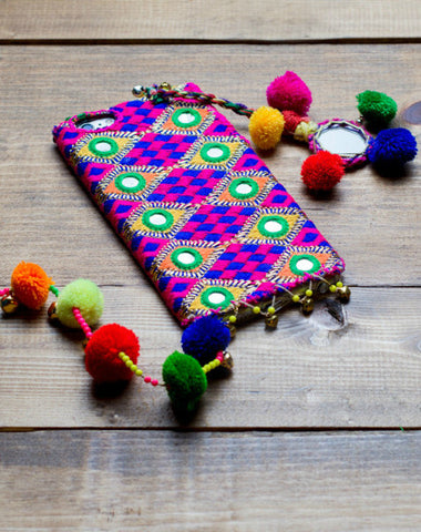 AMETHYST - Embroidered iPhone Cover