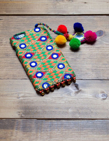 AMBER II - Embroidered iPhone Cover