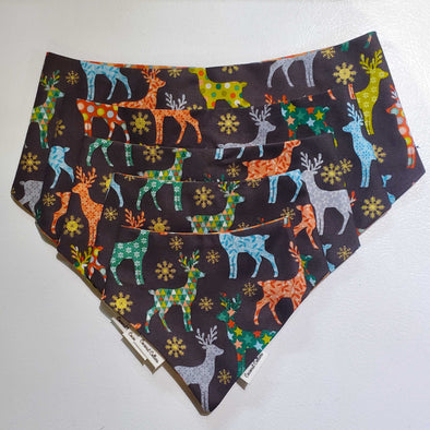 Coconut Collars Christmas Deer Bandana (6059147952301)