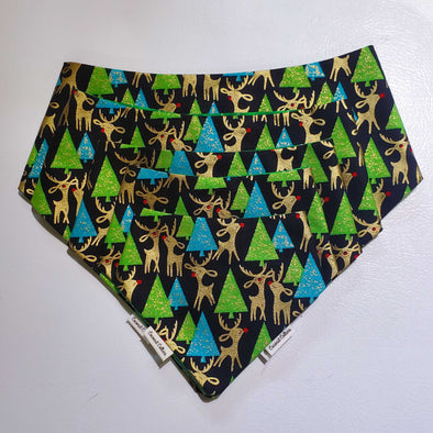 Coconut Collars Rudolph Forest Bandana (6059150672045)
