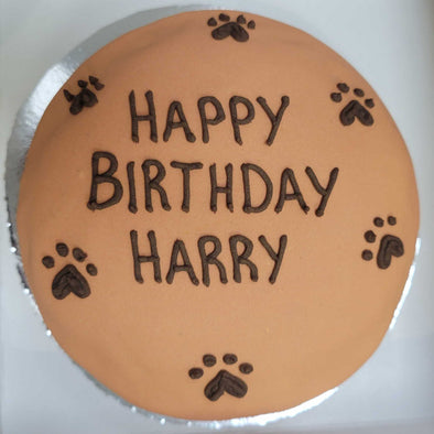 "6"" Round Doggy Birthday Cake"