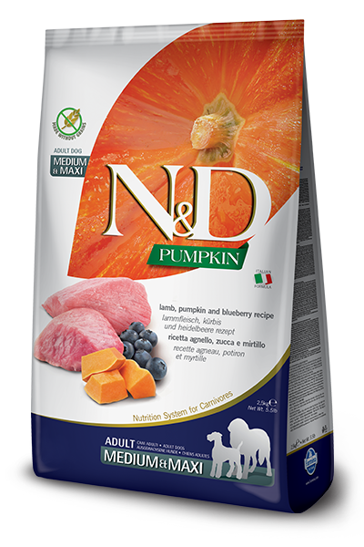 Farmina N&D Lamb, Pumpkin and Blueberry for Adult Dogs (4789778579515)