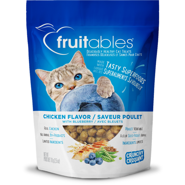 Fruitables Crunchy Chicken & Blueberry Cat Treats