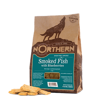 Northern Biscuits Smoked Fish with Blueberries