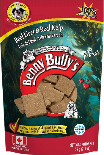 Benny Bully's Beef Liver Plus Kelp Dog Treats