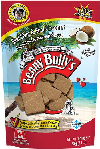 Benny Bully's Beef Liver Plus Coconut Dog Treats