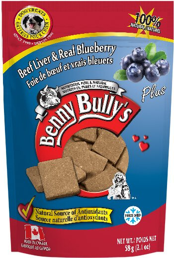 Benny Bully's Beef Liver Plus Blueberry Dog Treats