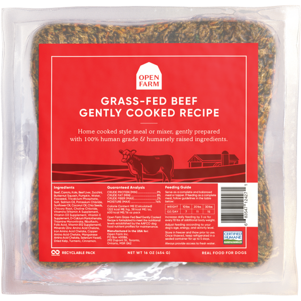 Open Farm Dog Gently Cooked Beef Recipe