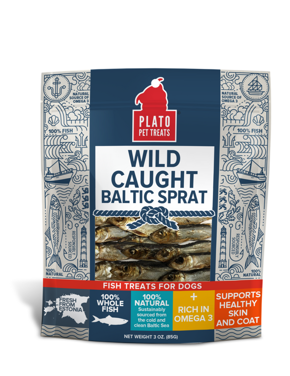 Plato Wild Caught Baltic Sprat Fish Dog Treats