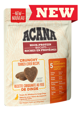 Acana High-Protein Biscuits, Crunchy Turkey Liver Recipe for Dogs