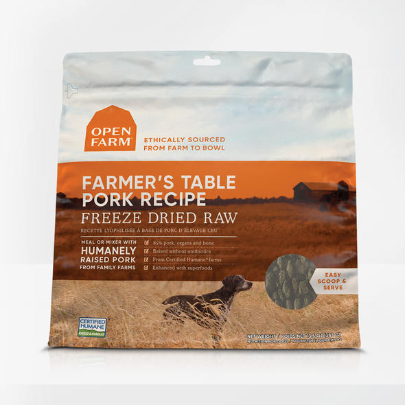 Open Farm Farmer's Table Pork Freeze Dried for Dogs (4699772026939)