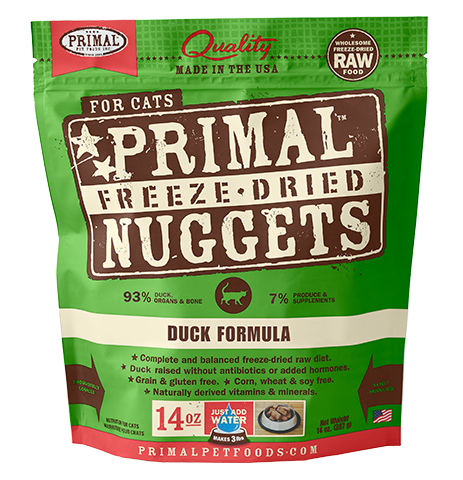 Primal Freeze-Dried Duck for Cats