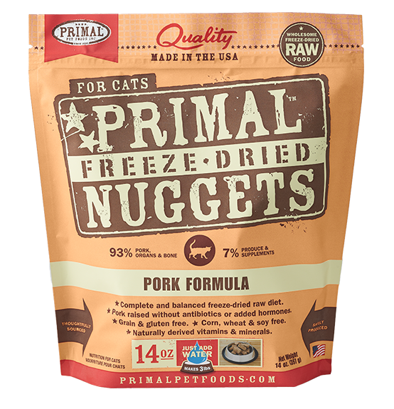Primal Freeze-Dried Pork for Cats