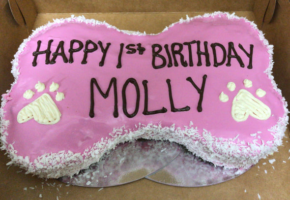 "9"" Bone Shaped Doggy Birthday Cake"