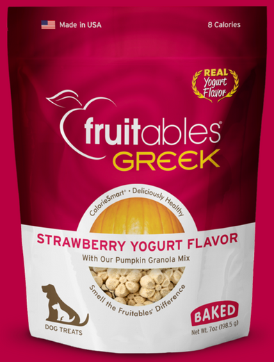Fruitables Strawberry Yogurt Dog Treats