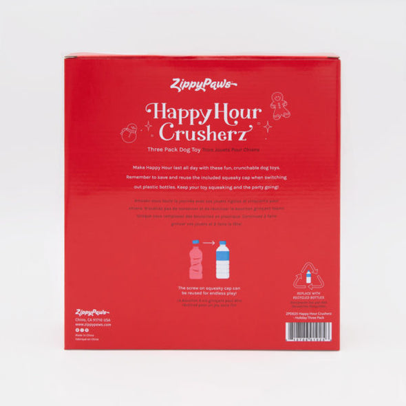 Zippy Paws Holiday Happy Hour Crusherz 3pc (6075013660845)