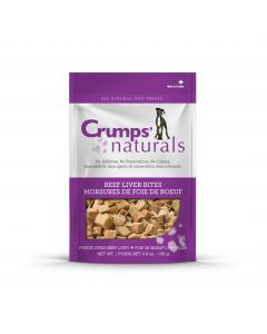 Crumps Freeze Dried Beef Liver Bites Dog Treats