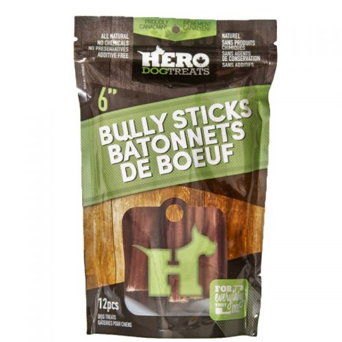 "Hero Beef Bully Stick 6"" Pack (4809422340155)"
